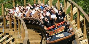 Achterbahn in Freizeitpark Plohn © Freizeitpark Plohn